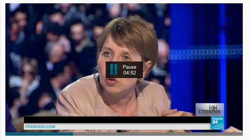 Anne Sander plateau télé