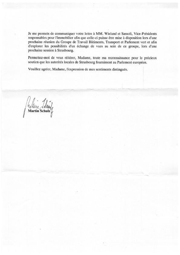 2016 03 18 Courrier de Martin Schulz en réponse au groupe Pierre Pflimlin 002