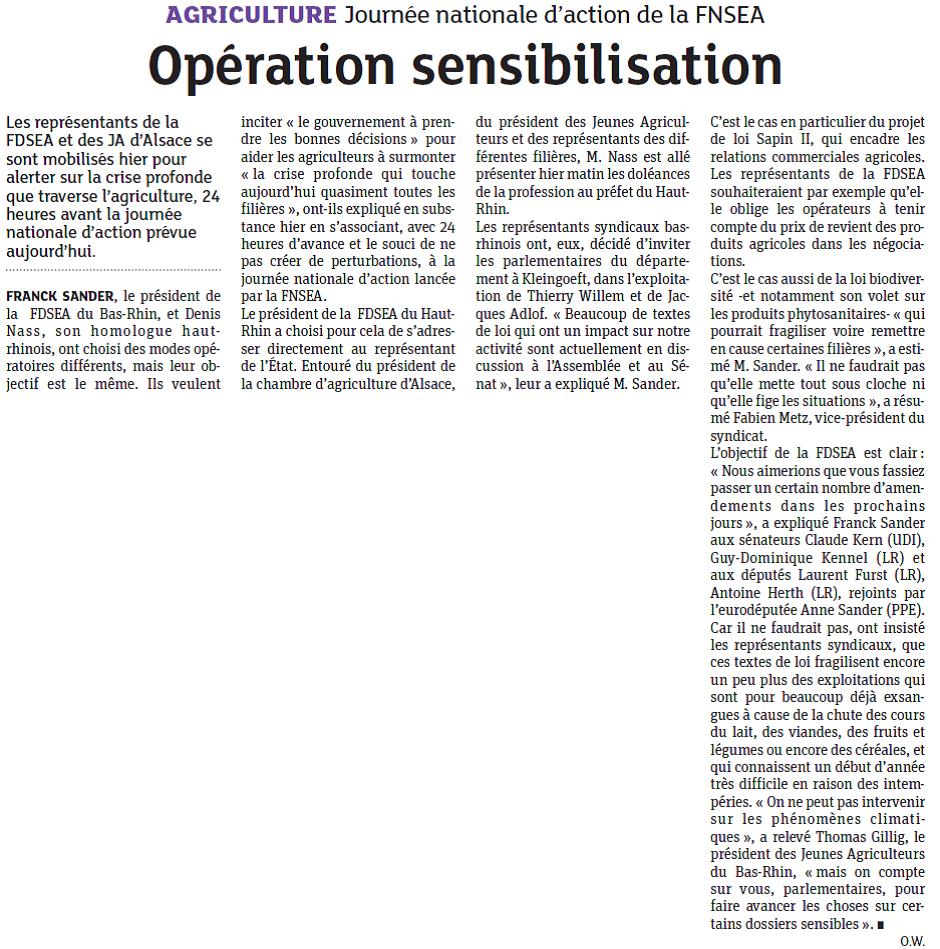 Opération sensibilisation agriculture 2016 06 07