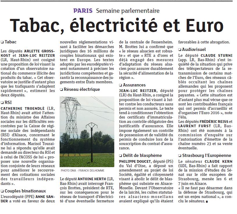 Tabac électricité et Euro