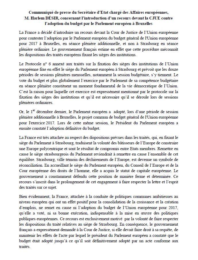 2017 02 10 CP Ministère des Affaires européennes